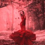 Red color in Celtic folklore