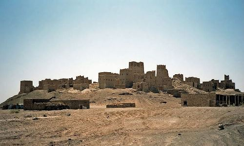 Amazing city of Queen of Sheba. Ruins of ancient Marib