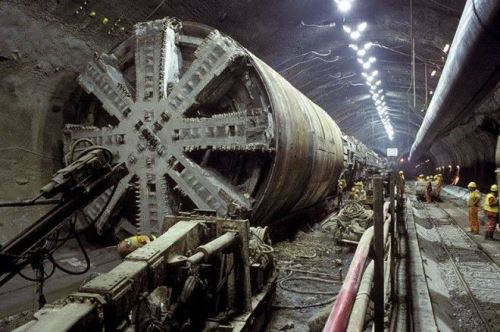 Channel Tunnel Construction, 1993