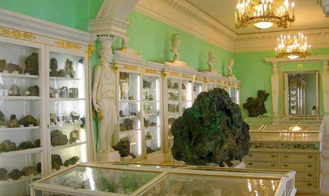 Collection of meteorites in St. Petersburg