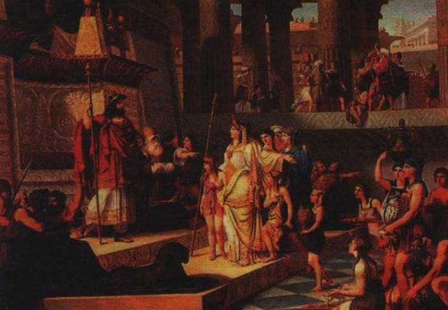 Giovanni Demina. Solomon and the Queen of Sheba