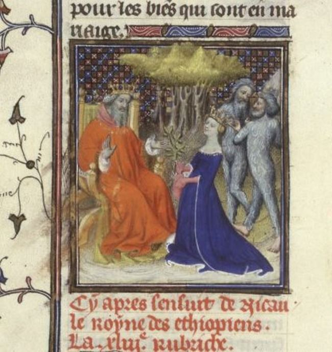 Miniature for Boccaccio's book, The Honorable Women, France, 15th century