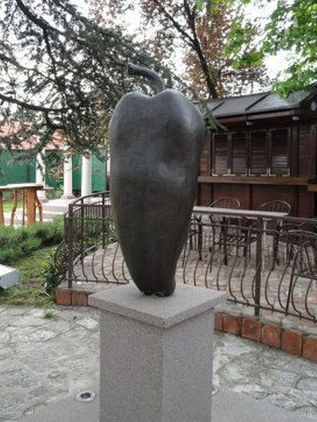 Monument to pepper in Belgrade, Serbia